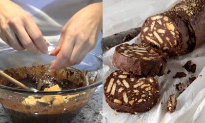 Κορμός της τεμπέλας: Πεντανόστιμος κορμός σοκολάτας χωρίς ζάχαρη, αυγά και βούτυρο που δεν χρειάζεται μίξερ